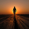 A Sailor Walks The Catapults by Stocktrek Images