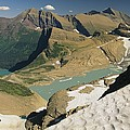 A Scenic View Of Lakes In Glacier by Michael Melford