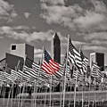 A Sea Of #flags During #marineweek by Pete Michaud