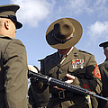 A Senior Drill Instructor Inspects by Stocktrek Images