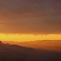 A Setting Sun Illuminates The Canyon by Heidi Smith
