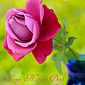 A Single Rose II Mother's Day Card by Heidi Smith