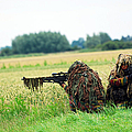 A Sniper Unit Of The Paracommandos by Luc De Jaeger