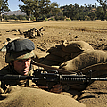 A Soldier Mans His Position At Fort by Stocktrek Images
