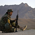 A Soldier With The Afghan National Army by Stocktrek Images