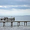A Stormy Day On The Pamlico River by Joan Meyland