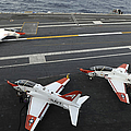 A T-45a Goshawk Makes An Arrested by Stocktrek Images