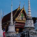 A Temple In A Wat Monestry In Tahiland by U Schade