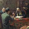 A Theological Debate by Eduard Frankfort