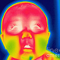 A Thermogram Of A 5 Month Old Baby by Ted Kinsman