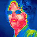 A Thermogram Of A Woman With Glasses by Ted Kinsman