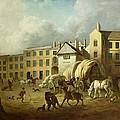 A Town Scene  by George Garrard