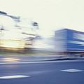 A Tractor Trailer Speeding by Jason Edwards