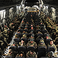 A Unit Of U.s. Army Soldiers In A C-17 by Stocktrek Images