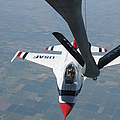 A U.s. Air Force Thunderbird Pilot by Stocktrek Images