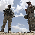 A U.s. Army Soldier Communicates by Stocktrek Images