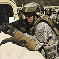 A U.s. Army Soldier Pulls Security by Stocktrek Images