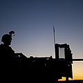 A U.s. Marine Keeps Watch by Stocktrek Images