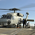 A U.s. Navy Sh-60b Seahawk Helicopter by Stocktrek Images