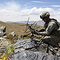 A U.s. Soldier Sets Up A Portable by Stocktrek Images
