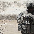 A U.s. Soldier Tests A Tactical by Stocktrek Images