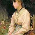 A Venetian Flower Girl by Sir Samuel Luke Fildes