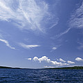 A View Of Lake Superior And Sky At Isle by Phil Schermeister