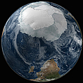 A View Of The Earth With The Full by Stocktrek Images
