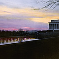 A View Of The Lincoln Memorial by Charles Martin