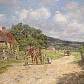 A Village Scene by James Charles