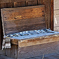 A Weathered Bench by Phyllis Denton