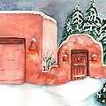 A Winter Clad Santa Fe by Sharon Mick