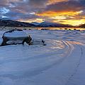 A Winter Sunset Over Tjeldsundet by Arild Heitmann