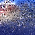 A Wintry Icy Window by Mike Nellums