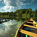 A Wooden Boat On A Lake In Suwalki Lake District by Slawek Staszczuk