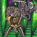 Aarron And Spacedog Arrive On The Spaceship by Al Goldfarb
