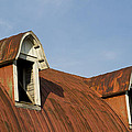 Abandoned Building Roof 1 A by John Brueske
