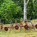 Abandoned Hay Rake 2 by Douglas Barnett