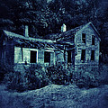 Abandoned House At Night by Jill Battaglia