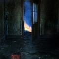 Abandoned House On Fire by Jill Battaglia
