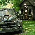 Abandoned Truck At Post Office by Douglas Barnett