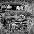 Abandoned Vintage Car Along The Roadside by Randall Nyhof