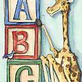 Abc Blocks - Giraffe by Annie Laurie