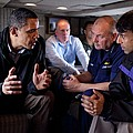 Aboard Marine One President Obama Meets by Everett
