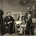 Abraham Lincoln At The First Reading Of The Emancipation Proclamation - July 22 1862 by International  Images