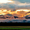 Absaroka Sunset by Ellen Heaverlo