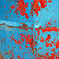 Abstrac Texture Of The Paint Peeling Iron Drum by Antoni Halim
