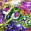 Abstract Artichoke Art By Ginette by Ginette Callaway
