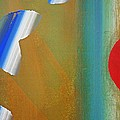 Abstract Blue With Red Sun by Charles Stuart