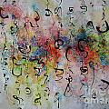 Abstract Calligraphy115 by Seon-Jeong Kim